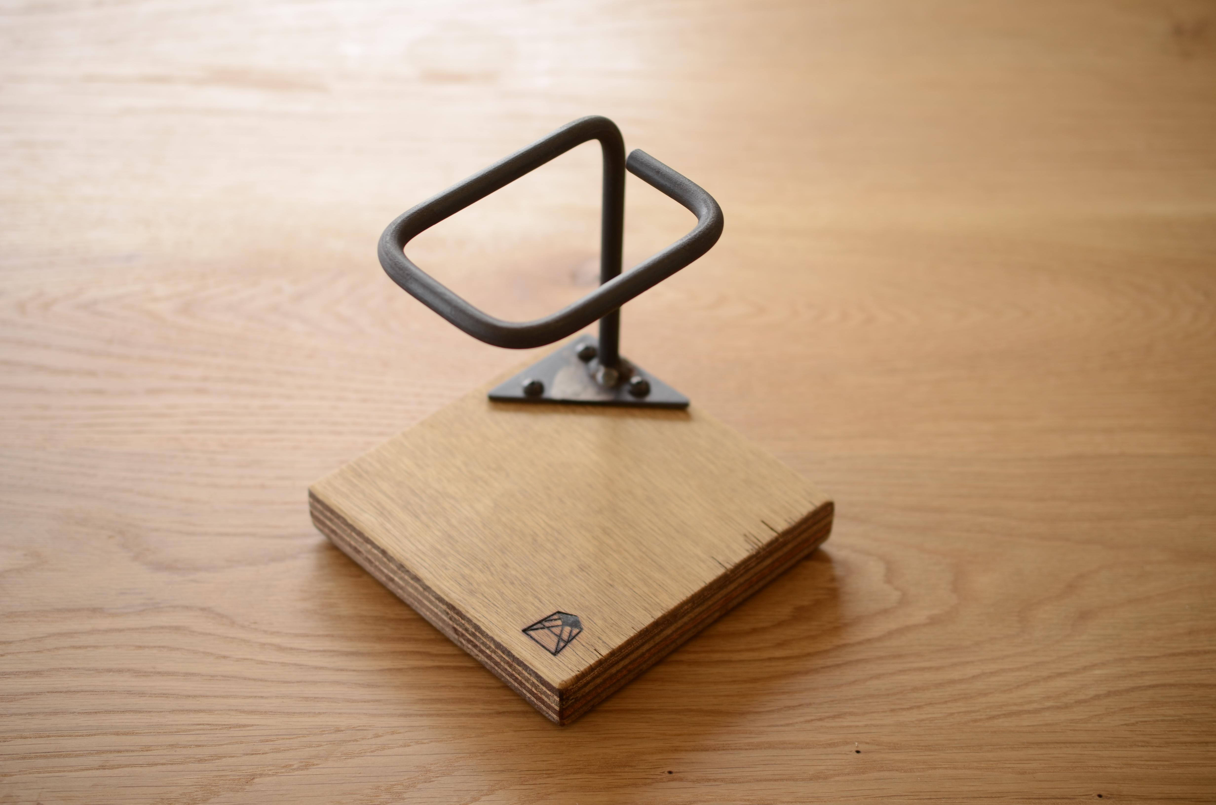写真:COFFEE DRIPPER STAND – single / コーヒードリッパースタンド – シングル / clear×ラワン合板