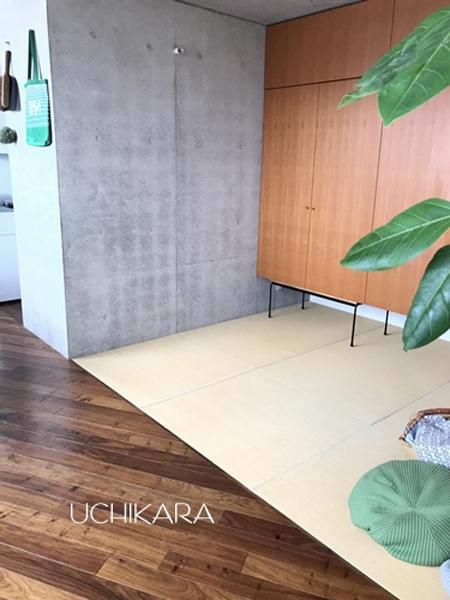 写真:神奈川県 横浜市 宇高様邸 Round bar table (ウレタンコート)
