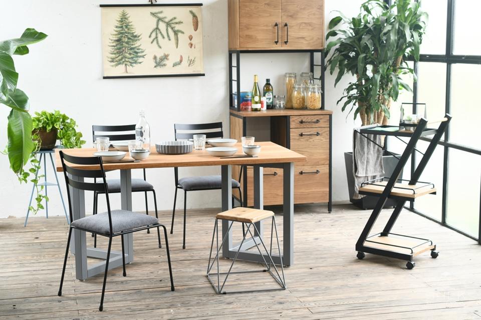 写真:DINING TABLE – Double rectangle frame / OAK