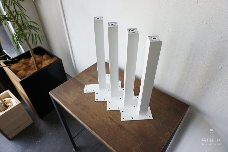 写真:STEEL TABLE PARTS set – square pipe □38 L380