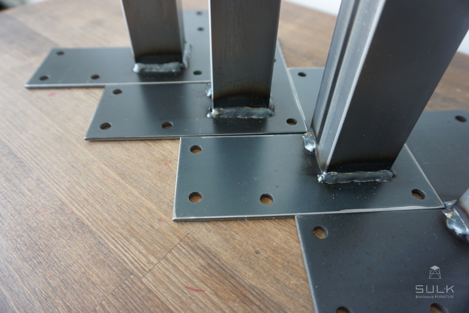 写真:STEEL TABLE PARTS set – square pipe □38 L680
