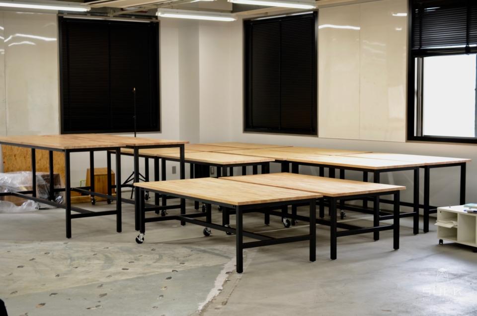 写真:大阪府吹田市 大阪大学様 ワークテーブル一式