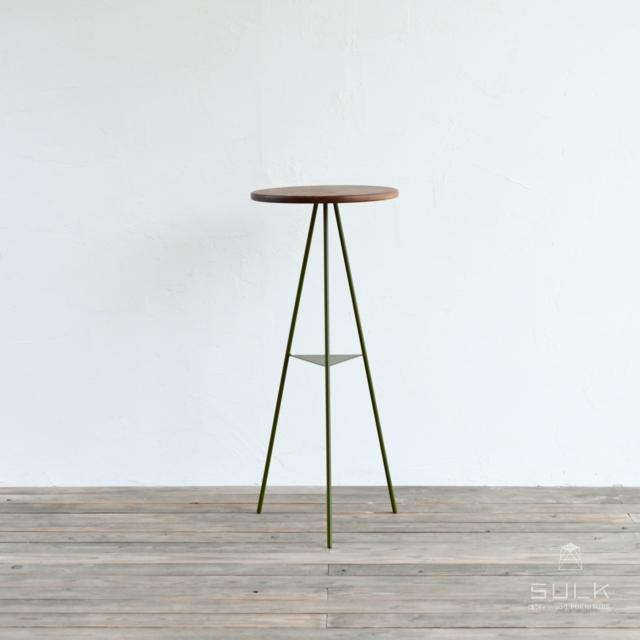 写真:Tripod table – woodtop High