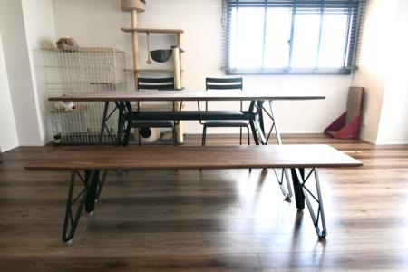 写真:静岡県浜松市 Y様邸 ダイニングセット一式・TVボード・ミラー