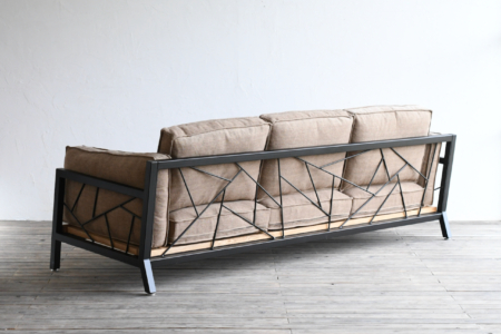 写真:SULKSOFA – spider web # 1( fabric seat / 3seater )※組立費用込み
