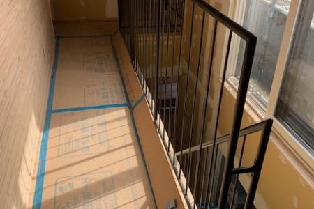 写真:大阪府池田市 十津川の家様 モデルハウス向け階段ササラ手摺他