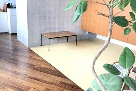 写真:神奈川県横浜市 宇高様邸 Round bar table(ウレタンコート)