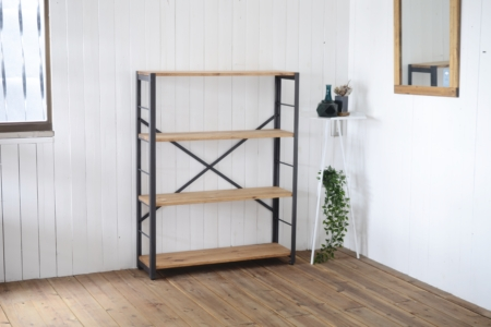 写真:ANGLE RACK – PINE 4shelves